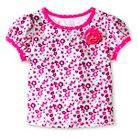 Baby Girls' Floral Print Swim Rash Guard Pink 9M - Circo™