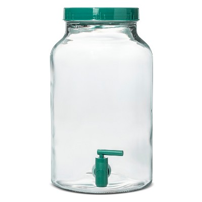 1.5gal Glass Beverage Dispenser - Teal