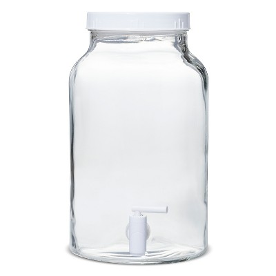 1.5gal Glass Beverage Dispenser Clear - White
