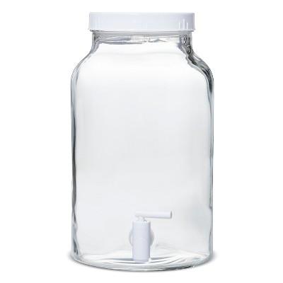 1.5gal Glass Beverage Dispenser Clear - White
