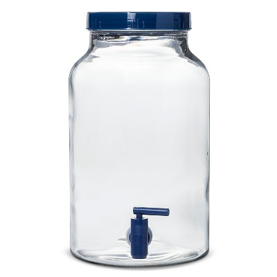 1.5gal Glass Beverage Dispenser Clear - Navy