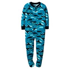 Just One You™ Made by Carter's® Toddler Boys' Whale Footed Sleeper Blue