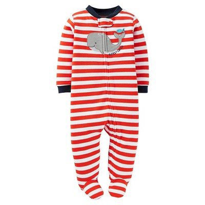 Just One You™Made by Carter's®  Newborn Boys' Sleep N Play - Orange/White Stripe NB