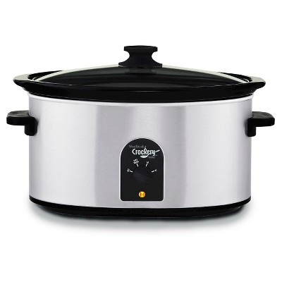 West Bend Crockery 7 Qt. Slow Cooker - Stainless Steel