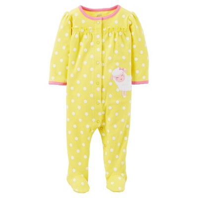 Just One You™Made by Carter's®  Newborn Girls' Sleep N Play - Yellow/White 9M