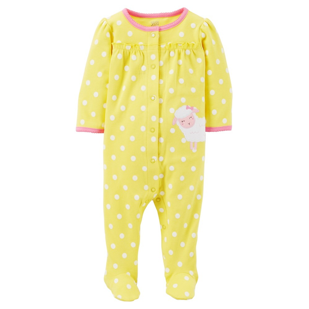 Just One YouMade by Carter's Newborn Girls' Sleep N Play - Yellow/White 9M,  Newborn Girl's,  Size: 9 M,  Ciao Yellow