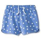 Toddler Girls' Star Pattern Knit Short Blue 4T - Circo™