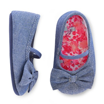 Newborn Girls' Flat Shoe Chambray 6-9M - Cherokee®