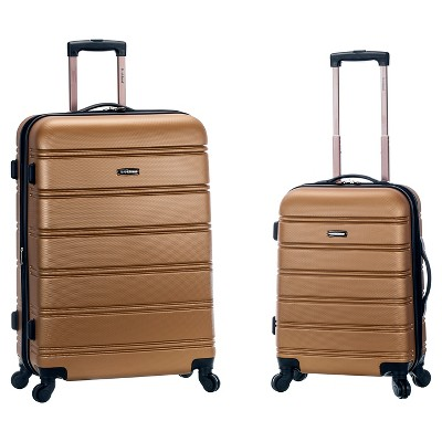 Rockland Expandable 2pc Spinner Luggage Set - Gold