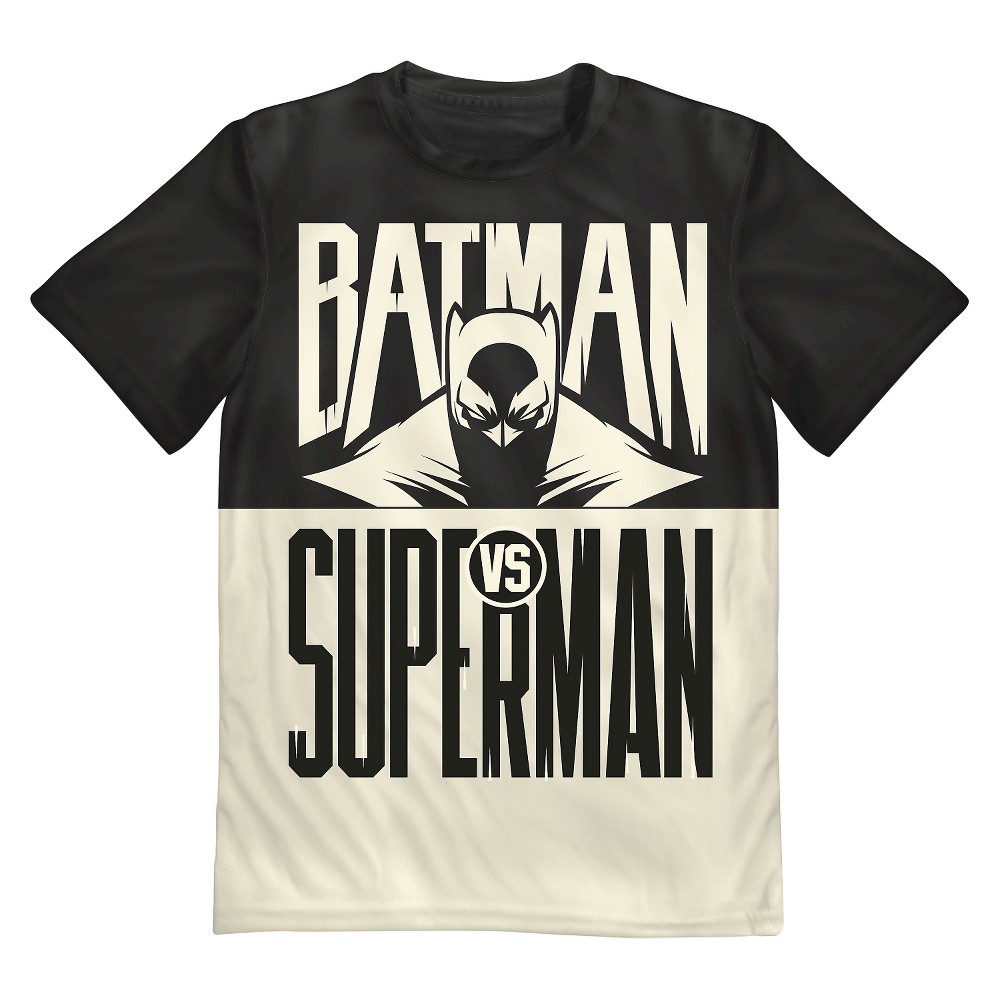 DC Comics Batman Vs Superman Boys' Tee - Black XL, Boy's