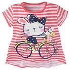 Gerber® Toddler Girls' Stripe T-Shirt - Pink