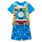 Toddler Boys' Thomas & Friends Short Sleeve 2-Piece Pajama Set Blue