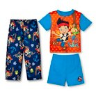 Disney Jake and the Neverland Pirates Toddler Boys' 3-Piece Pajama Set Blue