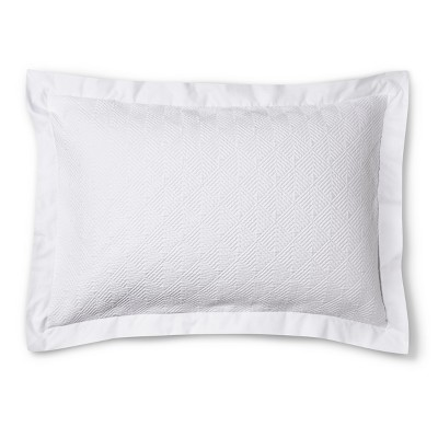 Matelasse Sham King - White - Fieldcrest™