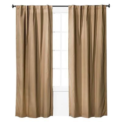 Twill Light Blocking Curtain Panel Tan - Pillowfort™