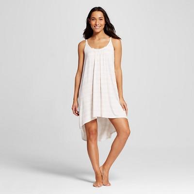 Women's Sleepwear Fluid Knit Gown White Print S - Gilligan & O'Malley™