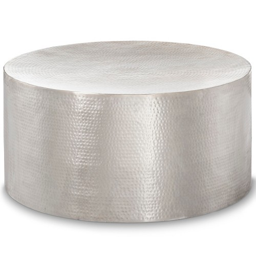 Threshold Cast Aluminum Coffee Table: Granby Hammered Barrel Coffee Table - Threshold™