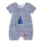 Baby Nay Port O' Call Stripe Romper - Blue 3M