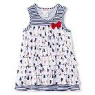 Baby Nay Port O' Call Ruffle A line Short Sleeve Dress - Blue 3 M