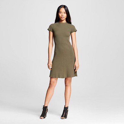 Green Ribbed Dress Who What Wear for Target