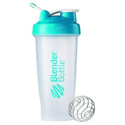 28-oz. BlenderBottle® Classic™ (w/Loop) - Aqua Protein Shaker