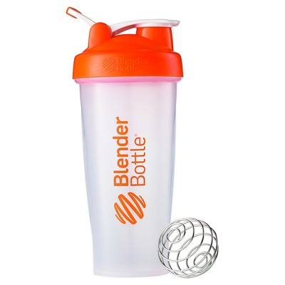 28-oz. BlenderBottle® Classic™ (w/Loop) - Orange Protein Shaker