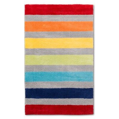 "Stripe Area Rug Multicolored 30""x48"" - Pillowfort™"