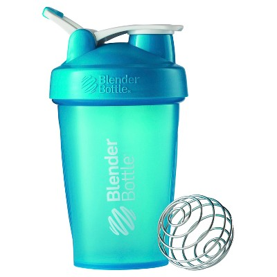 20-oz. BlenderBottle® Classic™ (w/Loop) - Full Color Aqua Protein Shaker