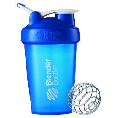20-oz. BlenderBottle® Classic™ (w/Loop) - Full Color Blue Protein Shaker