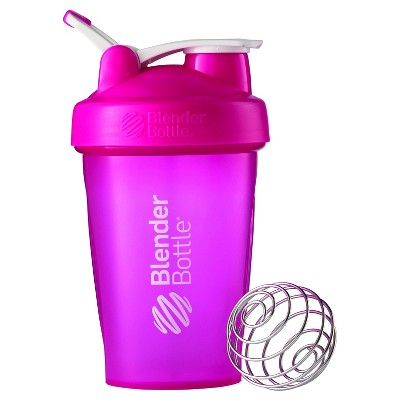 20-oz. BlenderBottle® Classic™ (w/Loop) - Full Color Pink Protein Shaker