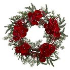 Orchid Berry and Pine Holiday Wreath - Red (22�)