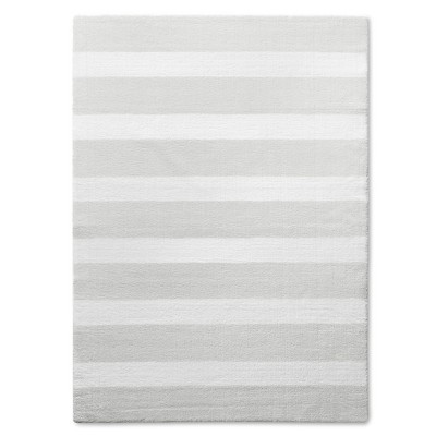 Stripe Area Rug Grey 5'x7' - Pillowfort™