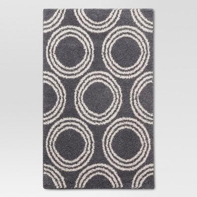 "Basic Shag Area Rug  Gray Circles 30"" x 48"" - Room Essentials™"