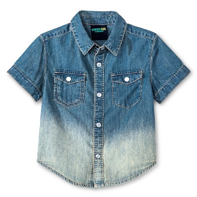 Male Button Down Shirts Light Denim 18 M