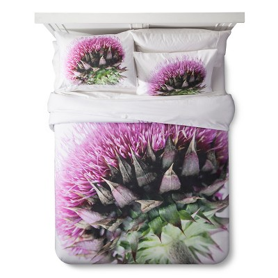 Thistle Print Duvet Set - King - Pink&White - 3pc - STILL by Mary Jo™