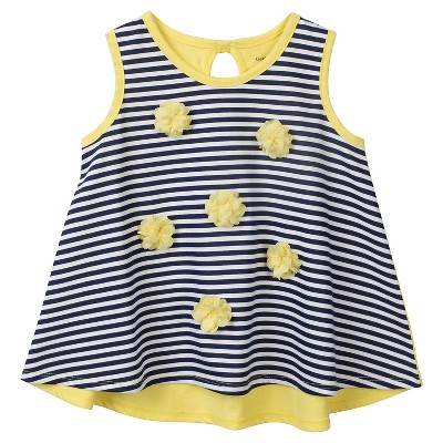 Gerber® Toddler Girls' Stripe Tunic - Blue 12 M