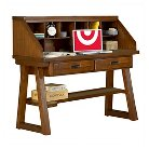 Weston Kids Desk with Hutch Wood/Warm Spice - American Woodcrafters