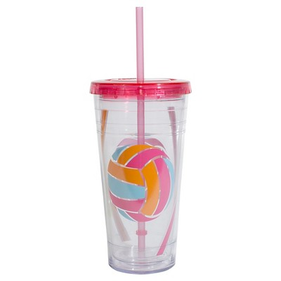 Cool Gears 24oz Printed Tumbler - Pink Volleyball
