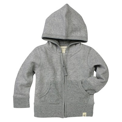 Burt's Bees Baby™ Baby Boys' Loose Pique Hoodie - Heather Grey 12 M