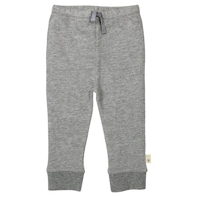 Burt's Bees Baby™ Baby Boys' Loose Pique Pant - Heather Grey 3-6 M