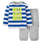 Just One You™ Made by Carter's® Baby Boys' Stripe 2-Piece Pant Set - Blue NB