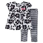 Just One You™ Made by Carter's® Baby Girls' Floral 2-Piece Pant Set - Black NB