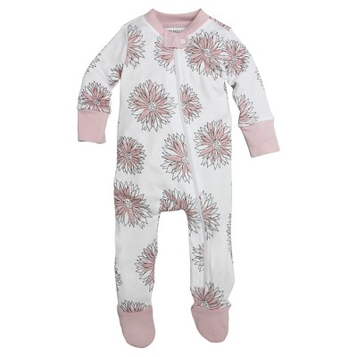 Footed Sleepers Burt's Bees 3-6 M Blossom