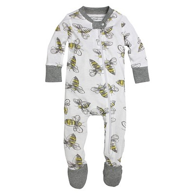 Footed Sleepers Burt's Bees 0-3 M Heather Grey