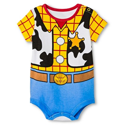 Disney Baby Boys' Woody Bodysuit Yellow  NB