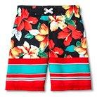Boys' Cherokee® Tropical Stripe Swim Trunk - Ebony XS