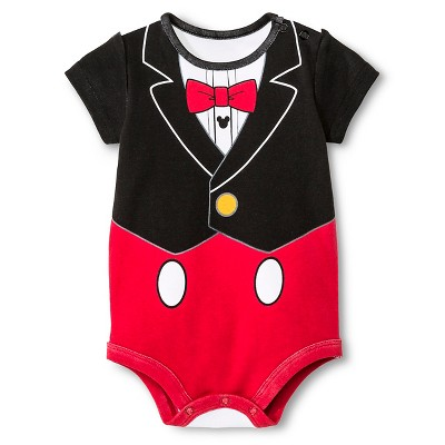 Disney Baby Boys' Mickey Bodysuit Black NB