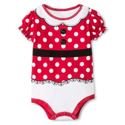 Disney Baby Girls' Minnie Mouse Bodysuit Red NB