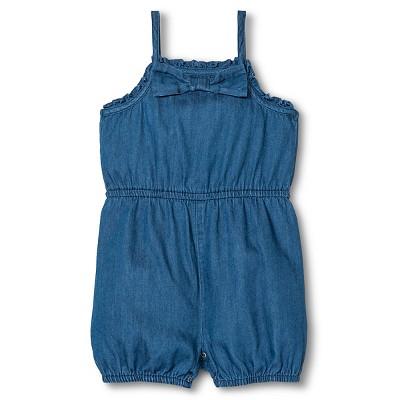 Baby Girl Romper Denim Blue 3-6M - Cherokee®