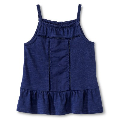 Baby Girls' Embroidered Tank Top Blue 18M - Genuine Kids from Oshkosh™